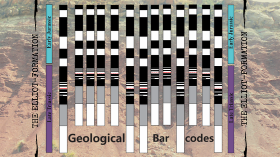 Geological bar codes